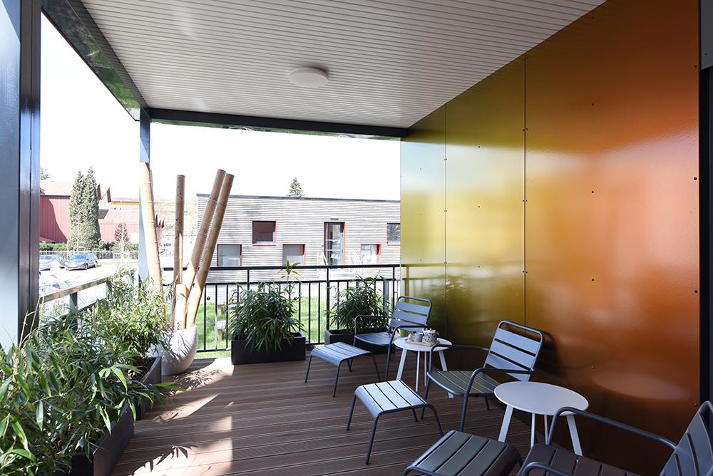 Construction modulaire, centre de bien-être en RE2020
